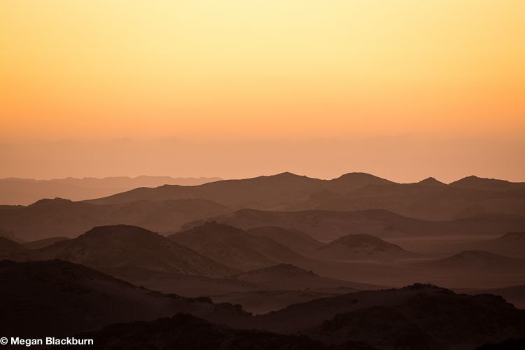 Hoanib Sunset over the dunes