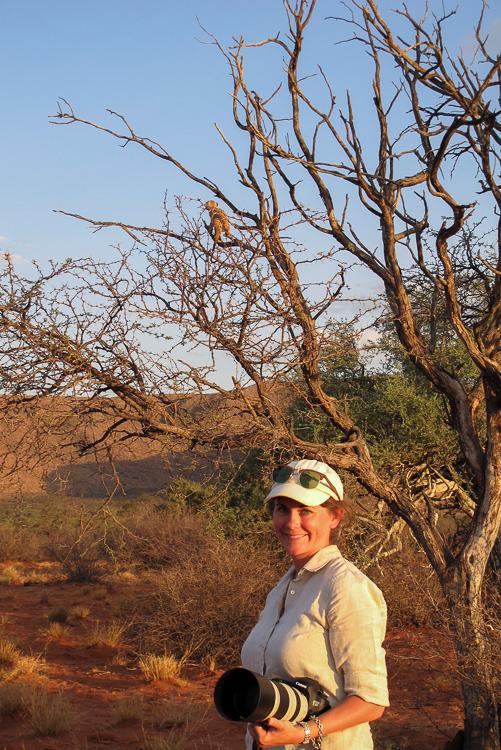 Tswalu Megan and a Meerkat